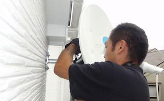 アンテナの取付工程