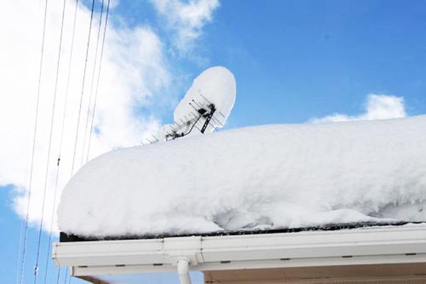 アンテナに積もった雪